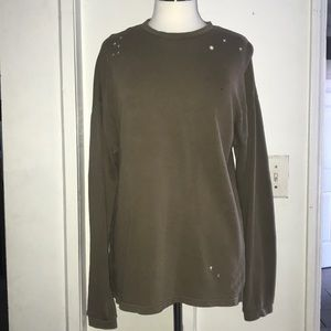 Men's long sweater size small